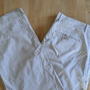 Theory lightweight cream trousers size 36
